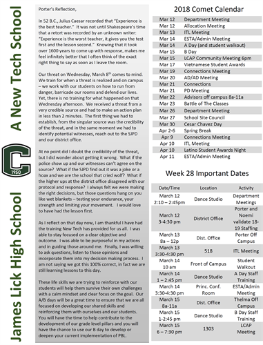 This is an image version of the PDF of Mr. Porter's weekly newsletter. This is Week 28.